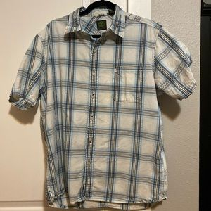 Timberland Short Sleeve Button Up - Size L